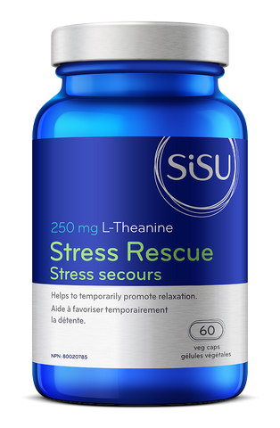 Stress Rescue L-Theanine 250mg - 60vcaps - Sisu - Health & Body Nutrition