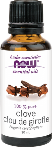 Clove Essential Oil - 30ml - Now - Health & Body Nutrition