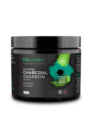 Activated Charcoal Powder - 40g - Organika - Health & Body Nutrition