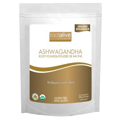 Organic Ashwagandha Root Powder - 200g - Rootalive - Health & Body Nutrition