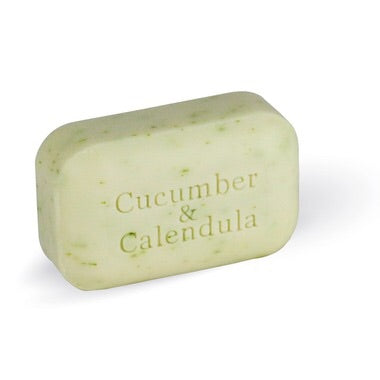 Cucumber and Calendula Bar Soap - 110g - The Soap Works - Health & Body Nutrition
