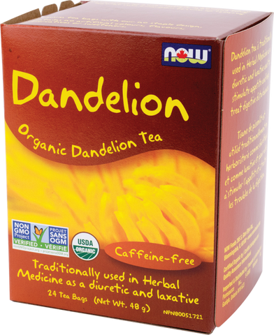 Organic Dandelion Tea - 24bags - Now - Health & Body Nutrition