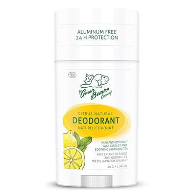 Natural Deodorant Stick - Citrus - 50g - Green Beaver - Health & Body Nutrition