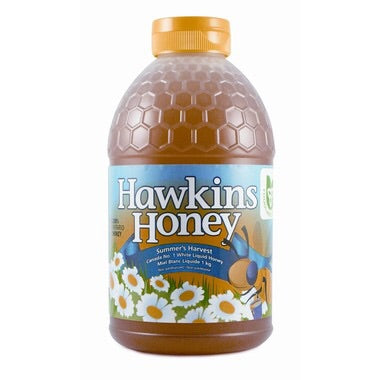 Non-Pasteurized White Liquid Honey - 1kg - Hawkins Honey - Health & Body Nutrition