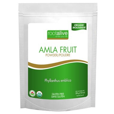 Organic Amla Fruit Powder - 200g - Rootalive - Health & Body Nutrition