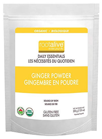 Organic Ginger Powder - 200g - Rootalive - Health & Body Nutrition