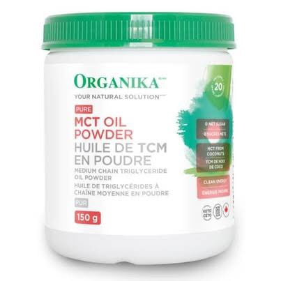 Pure MCT Oil Powder - 150g - Organika - Health & Body Nutrition