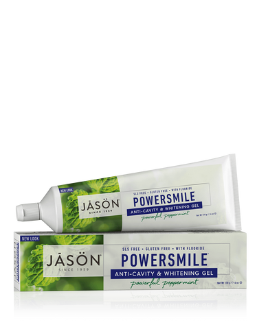 Powersmile Fluoride Free Toothpaste - Peppermint  -170g - Jason - Health & Body Nutrition