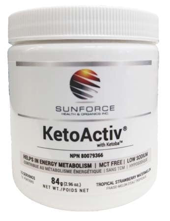 KetoActiv - 84g - Tropical Strawberry Watermelon- Sun Force - Health & Body Nutrition