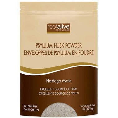 Psyllium Husk Powder - 1lb - Rootalive - Health & Body Nutrition
