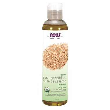 Organic Sesame Seed Oil - 237ml - Now - Health & Body Nutrition
