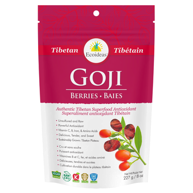 Goji Berries - 227g - Ecoideas - Health & Body Nutrition