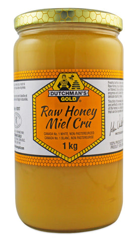 Raw Non-Pasteurized White Honey - 1kg - Dutchman's Gold - Health & Body Nutrition