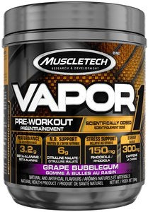 Vapor Pre-Workout - Grape Bubblegum Flavour 304g - Muscletech - Health & Body Nutrition