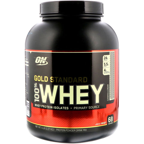 Gold Standard 100% Whey Protein - Optimum Nutrition - 5lbs - Cookies & Cream - Health & Body Nutrition