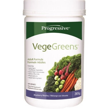 VegeGreens Blueberry Medley - 265g - Progressive - Health & Body Nutrition