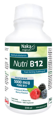 Nutri B12 - 250ml - Natural Mixed Berry Flavour - Naka - Health & Body Nutrition