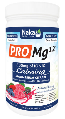 Pro MG12 - 300mg Ionic Calming Magnesium Citrate - 250g - Naka - Health & Body Nutrition