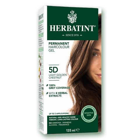 Herbatint Colour - 5D Light Golden Chestnut - 135mL - A.Vogel - Health & Body Nutrition