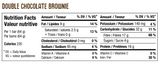 Sprouted Protein Bar Double Chocolate Brownie - 64g - Iron Vegan - Health & Body Nutrition