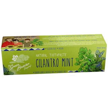 Natural Toothpaste - Cilantro Mint - 75ml - Green Beaver - Health & Body Nutrition