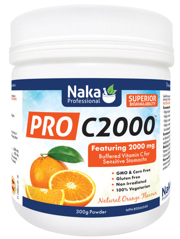 Pro C2000 - Natural Orange Flavour - 300g - Naka - Health & Body Nutrition