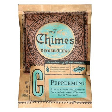 Ginger Chews Peppermint - 141.8g - Chimes - Health & Body Nutrition