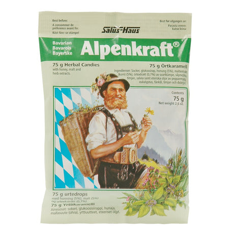 Alpenkraft Herbal Cough Candies - 75g - Salus - Health & Body Nutrition