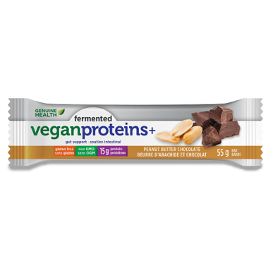 Fermented Vegan Proteins+ Bars - Peanut Butter Chocolate - Genuine Health - Health & Body Nutrition