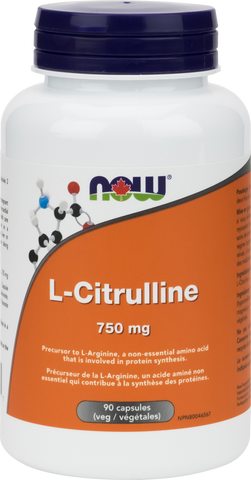 L-Citrulline - 750mg - 90vcaps - Now - Health & Body Nutrition