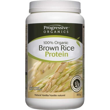 Organic Brown Rice Protein Natural Vanilla - 800g - Progressive - Health & Body Nutrition