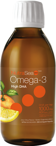 NutraSea Omega-3 High DHA™ Juicy Citrus - 200ml - Nature's Way - Health & Body Nutrition