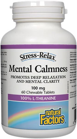 Stress-Relax® Mental Calmness 100 mg - 60tabs - Natural factors - Health & Body Nutrition