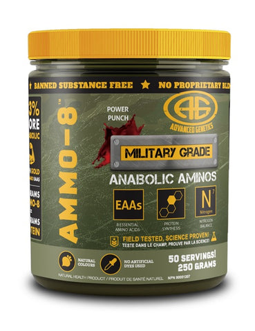 AMMO-8 EAAs - Power Punch - 200g - Advanced Genetics - Health & Body Nutrition