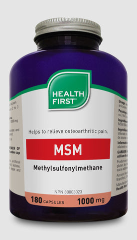MSM 1000mg - 180caps - Health First - Health & Body Nutrition