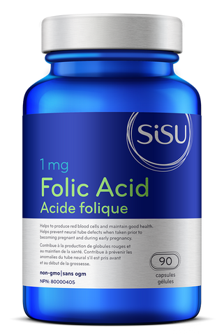 Folic Acid 1mg - 90tabs - Sisu - Health & Body Nutrition