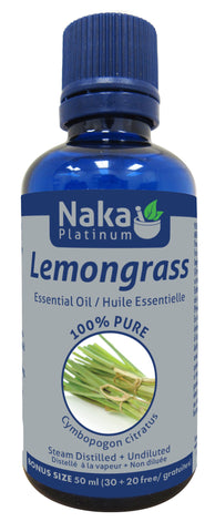 Lemongrass Essential Oil - 50ml - Naka - Health & Body Nutrition