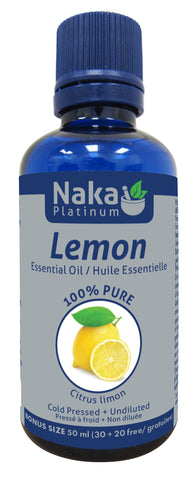 Lemon Essential Oil - 50ml - Naka - Health & Body Nutrition