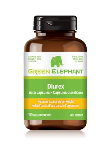 Diurex Water Capsules - 100vcaps - Green Elephant - Health & Body Nutrition