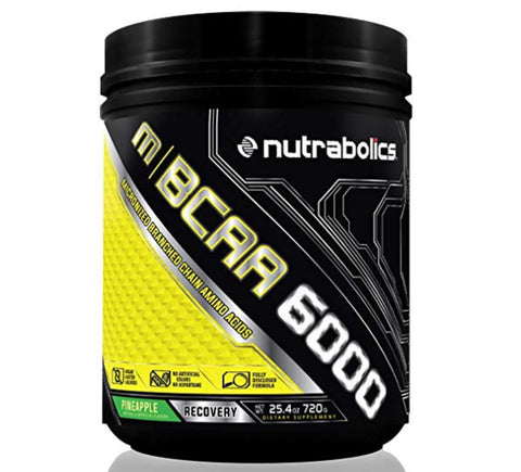 m|BCAA 6000 Pineapple - 90 servings - 720g - Nutrabolics expires: Oct 2019 - Health & Body Nutrition