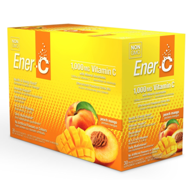 Multivitamin Drink Mix - Peach Mango Flavour - 30packs - Ener-C - Health & Body Nutrition