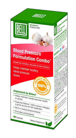 Blood Pressure Formulation Combo - 60vcaps - Bell - Health & Body Nutrition