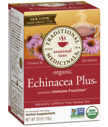 Organic Echinacea Plus Tea - 20bags - Traditional Medicinals - Health & Body Nutrition