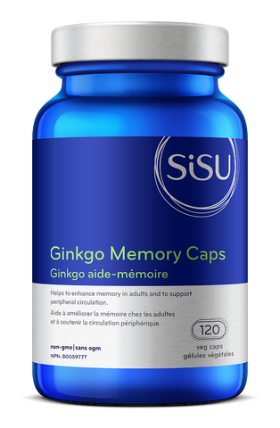 Ginkgo Memory Caps - 120vcaps - Sisu - Health & Body Nutrition