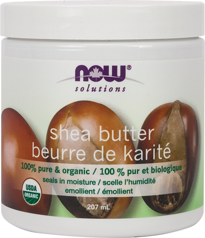 Organic Shea Butter - 207ml - Now - Health & Body Nutrition