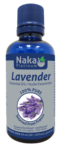 Lavender Essential Oil - 50ml - Naka - Health & Body Nutrition