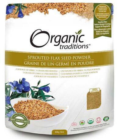 Sprouted Flax Seed Powder - 454g - Organic Traditions - Health & Body Nutrition
