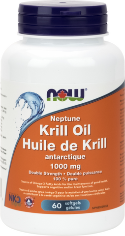 Neptune Krill Oil 1000mg - 60gels - Now - Health & Body Nutrition