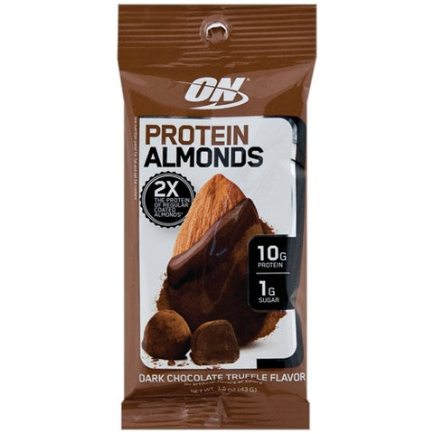 Protein Almonds Dark Chocolate Truffle - 43g - Optimum Nutrition