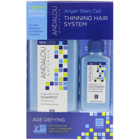 Argan Stem Cell Thinning Hair System - Andalou Naturals - Health & Body Nutrition